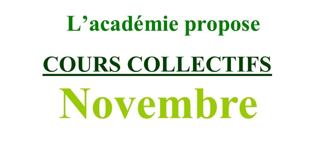 Cours collectifs de Novembre
