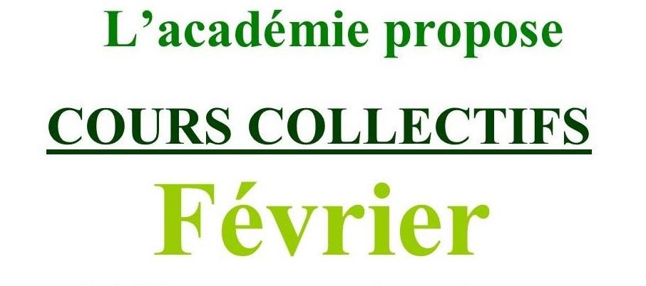 Cours Collectifs de Février 2021