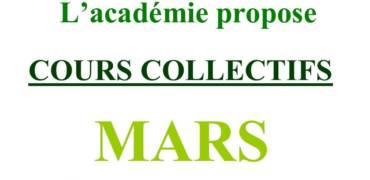 Cours Collectifs de Mars 2021