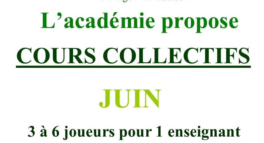 Cours Collectifs de Juin 2021