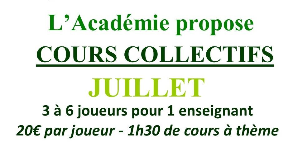 Cours Collectifs de Juillet 2021