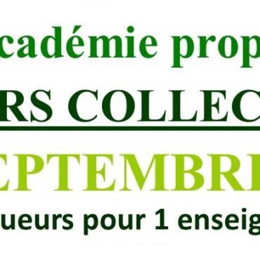 Cours Collectifs de Septembre