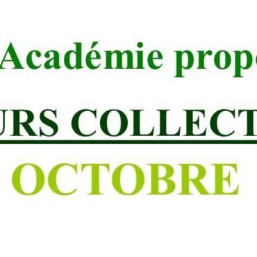 Cours Collectifs d'Octobre